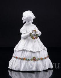 Шкатулка, Девочка с венком, E & A Muller, Германия, нач.20 в