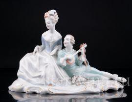 Пара с мандолиной, Rosenthal, Германия,1930- 50 гг., артикул 02864