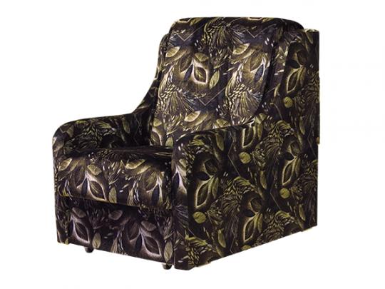 Кресло-кровать Аккордеон флок, коричневый