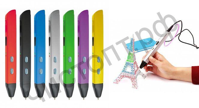 3D ручка MYRIWELL RP-600A регул. автомат. подачи и температуры ,ретракт