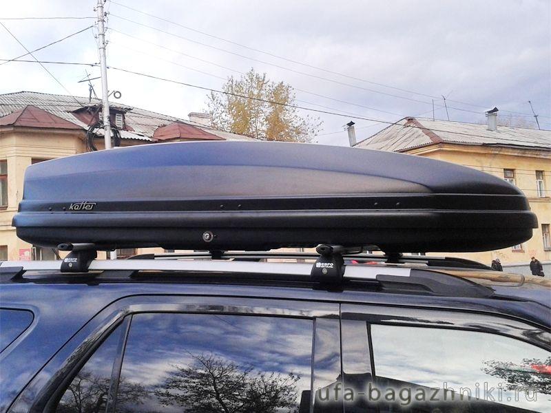Автомобильный бокс на крышу Koffer A-480, 480 литров, черный матовый