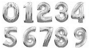 Фольгированная цифра (Серебро)