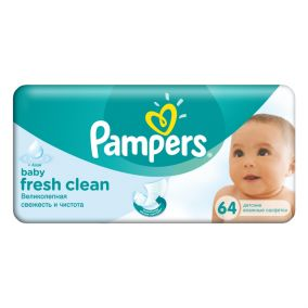 Салфетки Pampers Fresh Clean 64шт