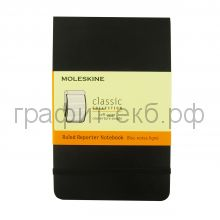 Книжка зап.Moleskine Pocket Reporter Soft линейка черная QP811