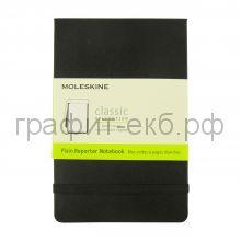 Книжка зап.Moleskine Pocket Reporter нелинованная черная QP513