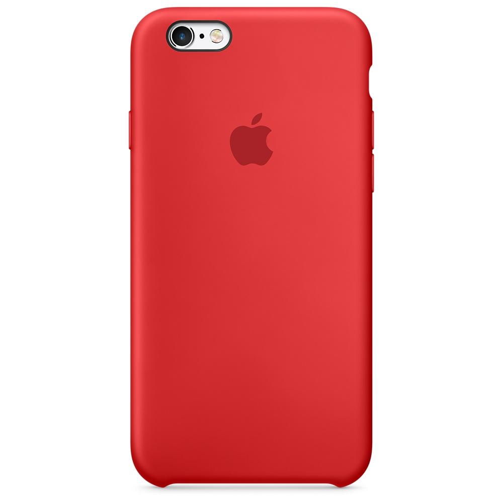 Cиликоновый чехол Apple   для iPhone 6/6s RED