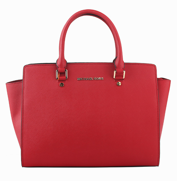 Michael Kors Selma Medium Satchel Crimson
