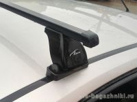 Багажник на крышу BMW 1-serie E81, Lux, прямоугольные стальные дуги