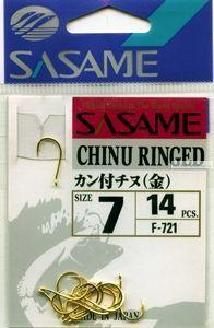 Крючок Sasame Chinu Ringed F-721( упаковка )