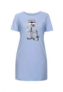 трикотажное женское платье Енот