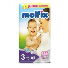 Подгузники Molfix 4-9 кг 68 шт