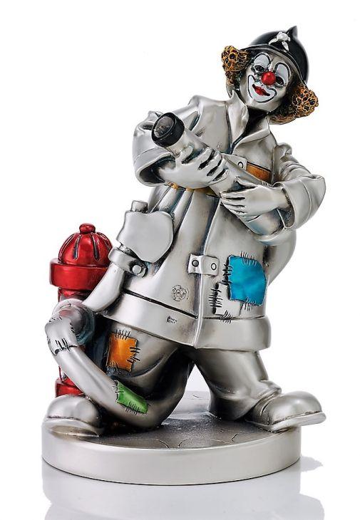 Серебряная коллекционная фигурка Клоуна пожарного (Италия)