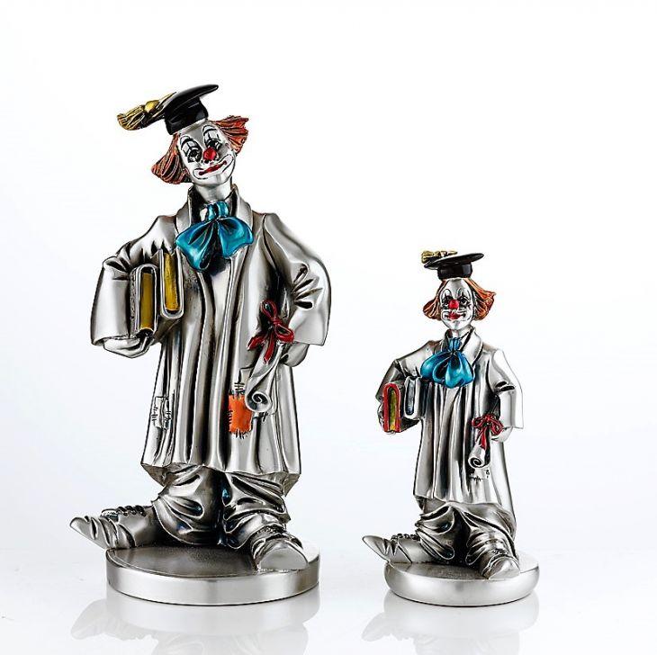 Серебряная коллекционная фигурка  Клоуна выпускника (Италия)