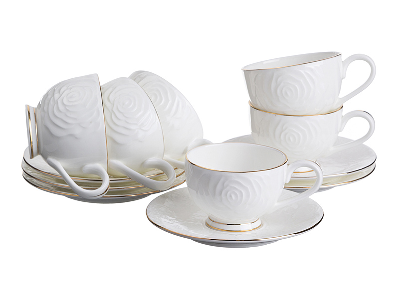 "Кофейный набор на 6 персон ""Blanco"", 12 пр., 100 мл"