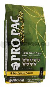 Pro Pac Dog Large Breed Puppy щенков крупных пород с курицей и коричневым рисом
