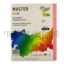 Бумага А4 50л.Master Color розовый PI25 80г/м2 16180
