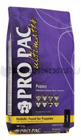 Pro Pac Dog Breed Puppy для щенков всех пород с курицей и коричневым рисом