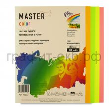 Бумага А4 40л.Master Color Mix Neon 80г/м2 16200