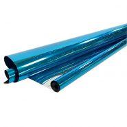Плёнка голография, синяя, 200 гр, 70 см*7,5 м