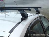 Багажник на крышу BMW 1-serie E82, Lux, прямоугольные стальные дуги