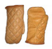 Варежки кожаные стеганые