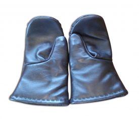 Кожаные варежки со скрытой защитой (пара)