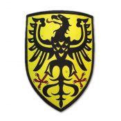 Щит рыцарский с немецким орлом на золотом поле