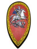 Щит каплевидный со Святым Георгием