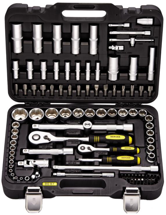 Универсальный набор инструментов 97 предметов BERGER BG097-121438