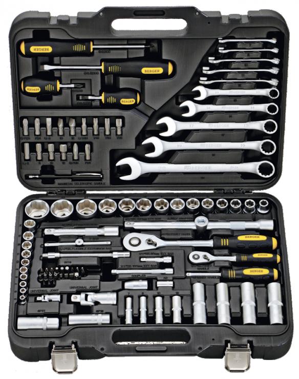 Универсальный набор инструментов 95 предметов BERGER BG095-1214