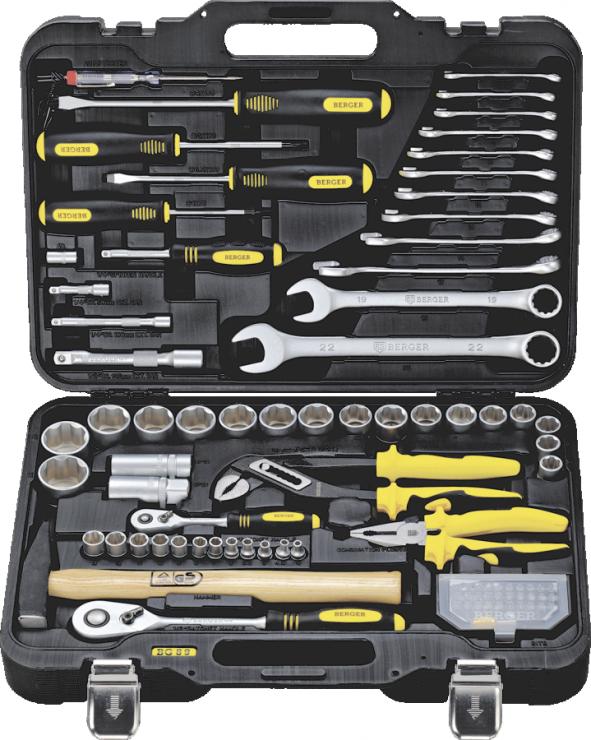 Универсальный набор инструментов 89 предметов BERGER BG089-1214