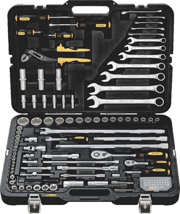 Универсальный набор инструментов 118 предметов BERGER BG118-1214