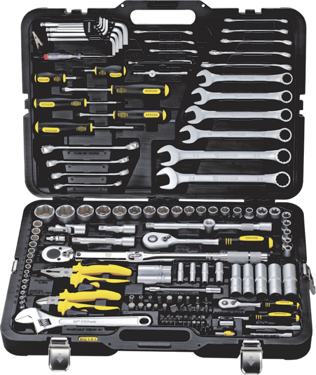 Универсальный набор инструментов 141 предмет BERGER BG141-1214