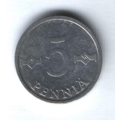 5 пенни 1985 г. Финляндия