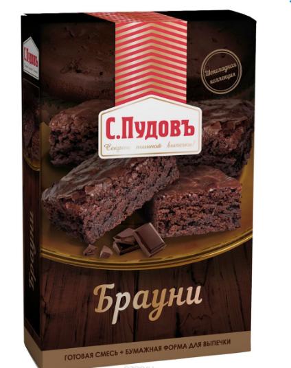 ПУДОВ Мучная смесь Брауни 350 г
