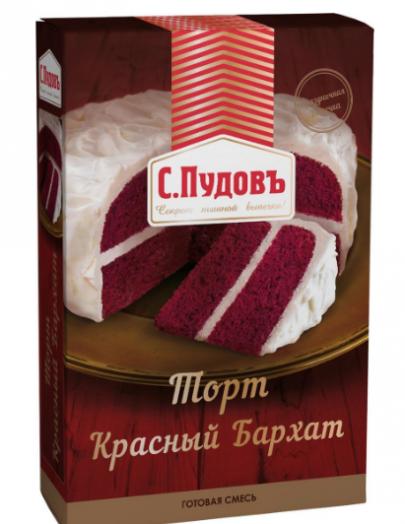 ПУДОВ Торт красный бархат 400 г мучная смесь