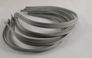`Ободок металл обтянутый тканью 5 мм, цвет: серый