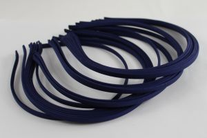 `Ободок металл обтянутый тканью 5 мм, цвет: темно-синий, Арт. Р-ОБ0048