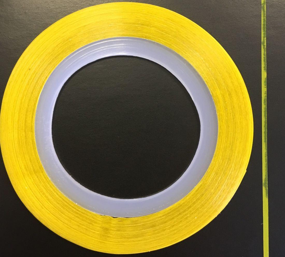 Наклейка-лента для дизайна ногтей в рулоне (0.8мм) матовая (желтая)
