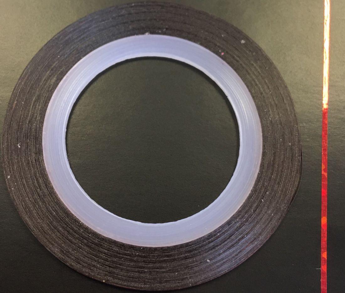 Наклейка-лента для дизайна ногтей в рулоне (0.8мм) голограмма (красный)