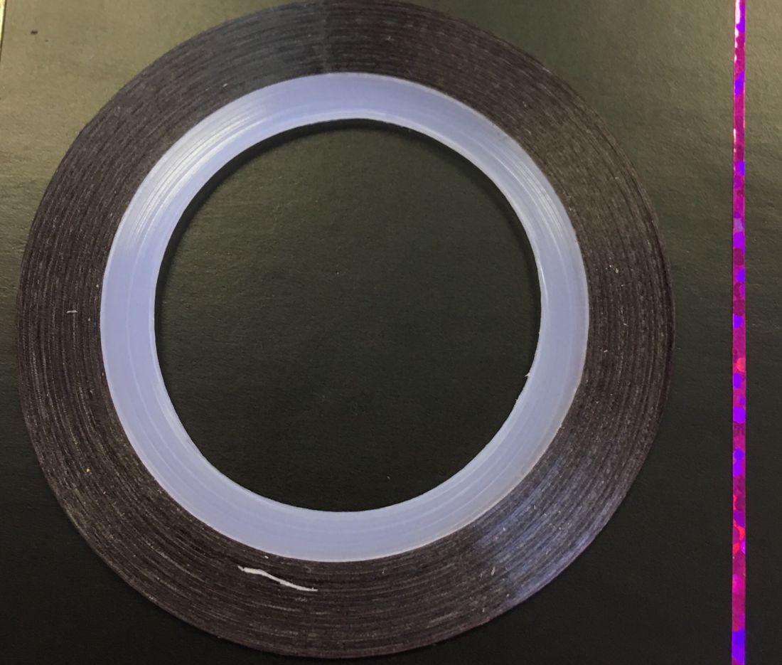 Наклейка-лента для дизайна ногтей в рулоне (0.8мм) голограмма (фуксия)