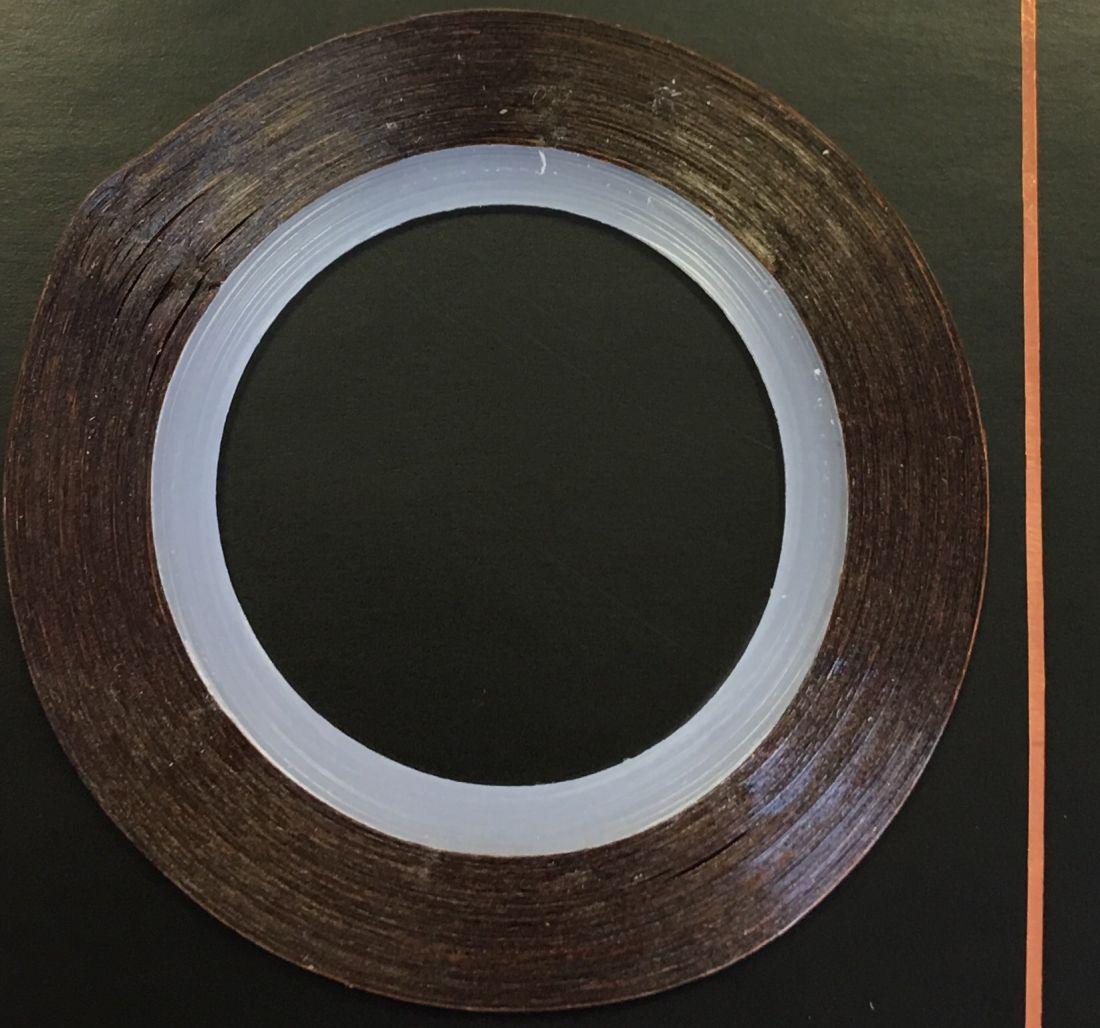 Наклейка-лента для дизайна ногтей в рулоне (0.8мм) глянцевая (медь)