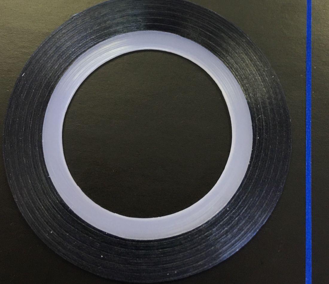 Наклейка-лента для дизайна ногтей в рулоне (0.8мм) глянцевая (синий)