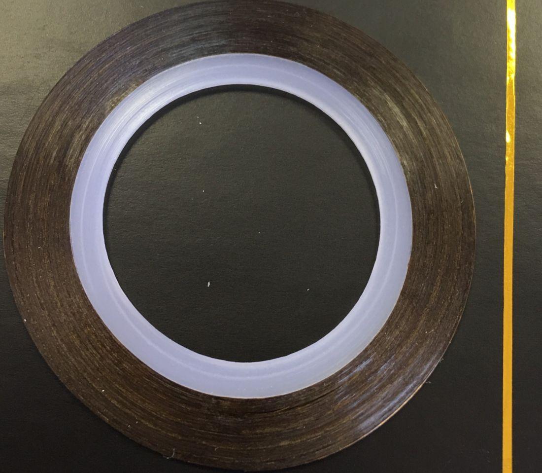 Наклейка-лента для дизайна ногтей в рулоне (0.8мм) глянцевая (золото)