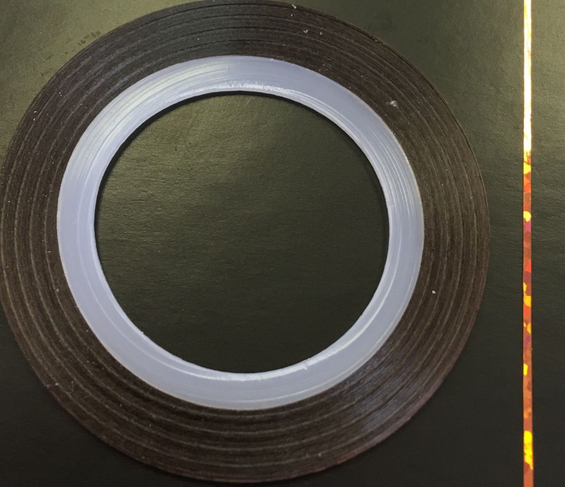 Наклейка-лента для дизайна ногтей в рулоне (0.8мм) голограмма (медь)