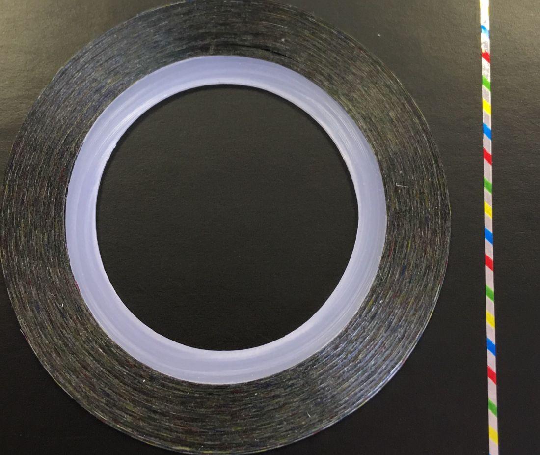 Наклейка-лента для дизайна ногтей в рулоне (0.8мм) глянец (полоски)