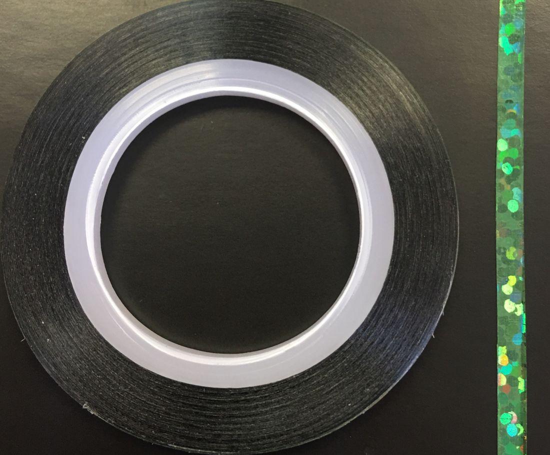 Наклейка-лента для дизайна ногтей в рулоне (3мм) голограмма (зеленый)