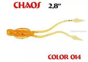 Купить Мягкая приманка Aiko Chaos 2.8 70мм / запах рыбы цвет - 014-Crazy Orange (упаковка 8шт)