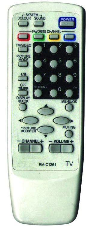 JVC RM-C1261 (TV) (AV-1403AE, AV-1403FE, AV-1404AE, AV-1404FE, AV-1407AE, AV-1407FE, AV-14A14, AV-14F14, AV-20N14, AV-2103CE, AV-2103DE, AV-2103TE, AV-2103YE, AV-2104CE, AV-2104DE, AV-2104QE, AV-2104TE)