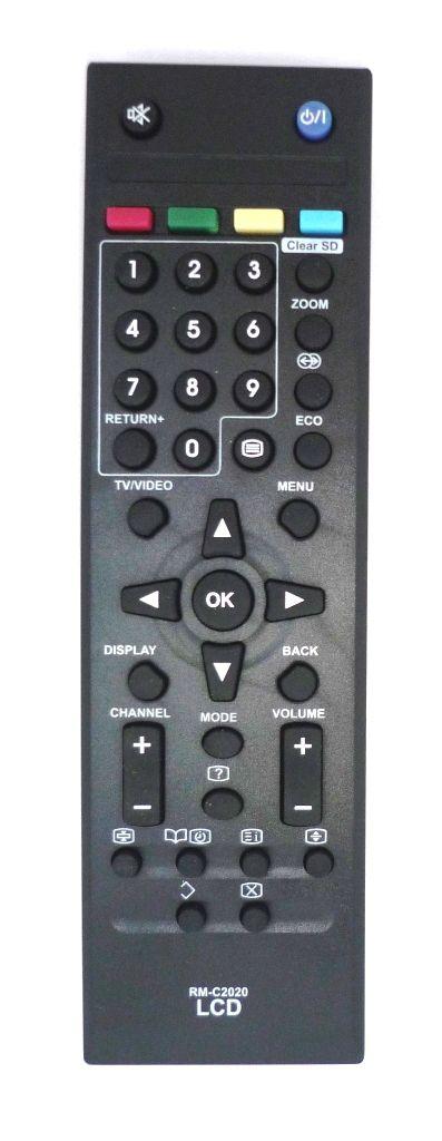 JVC RM-C2020 (TV) черный (LT-22EX19, LT-26KM18, LT-26KM28, LT-32BX18, LT-32BX19, LT-32EX18, LT-32EX19, LT-32EX28, LT-32EX29, LT-42EX18, LT-42EX19)
